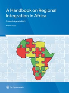A Handbook on Regional Integration in Africa: Towards Agenda 2063, the book is based on the African Union's 'strategic framework for the socio-economic transformation of the continent over 50 years.'
