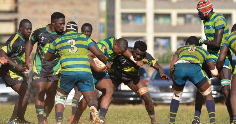 Kenya Cup defending champions KCB has made it to the semifinal stage after beating Kabras Sugar 41-12.